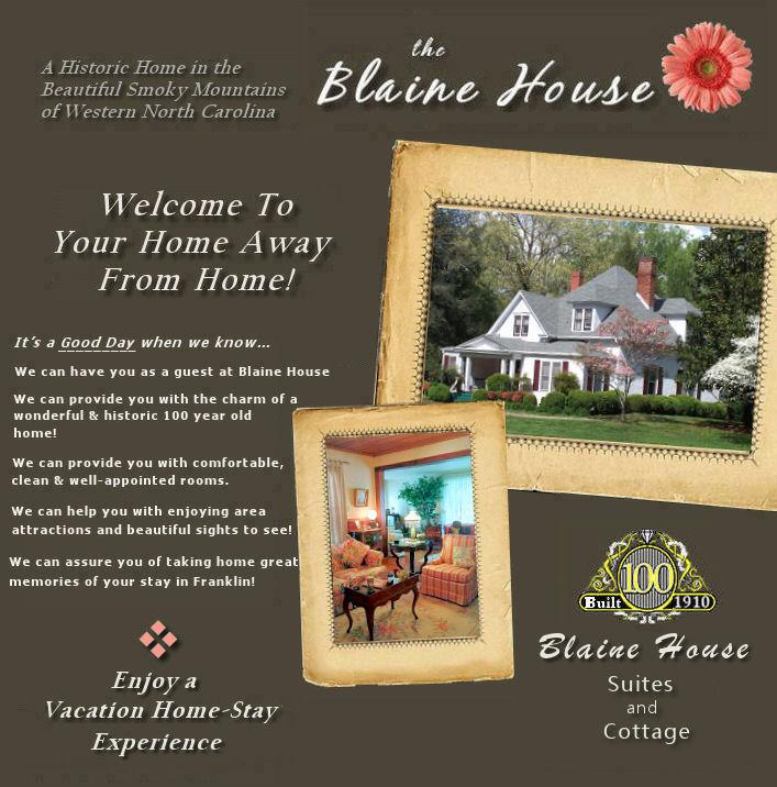 Blaine House Bed Breakfast Franklin Nc